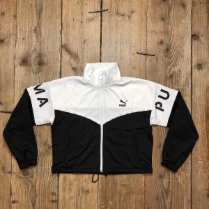 Felpa Puma XTG Track Jacket Con Zip Bianca e Nera