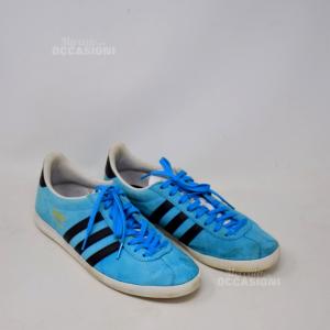 Scarpe Adidas Gazzelle N 42 Azzurre