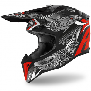 CASCO MOTO CROSS AIROH WRAAP OCTOPUS MATT 2020 WROC35