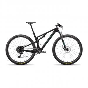 SANTA CRUZ Bici XC-MARATHON BLUR KIT S 29 GLOSS CARBON/AQUA 29  - SANTA CRUZ