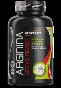 ETHICSPORT ARGININA Active Power - Barattolo da 90 cpr da 1500 mg