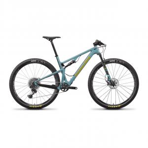 SANTA CRUZ Bici  XC-MARATHON - BLUR CC XO1 29 GLOSS AQUA / CARBON 29