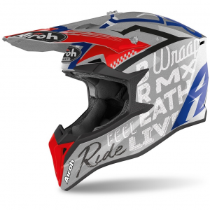 CASCO MOTO CROSS AIROH WRAAP STREET GREY METAL GLOSS 2020 WRST16
