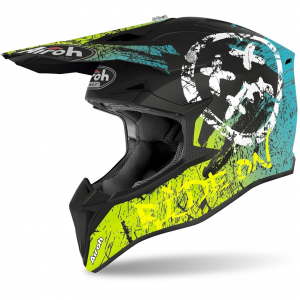 CASCO MOTO CROSS AIROH WRAAP SMILE YELLOW MATT 2020 WRSM31