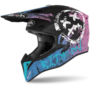 CASCO MOTO CROSS AIROH WRAAP SMILE VIOLET MATT 2020 WRSM54