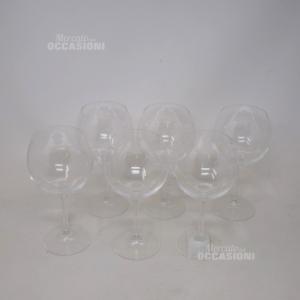6 Bicchieri Baloon In Vetro