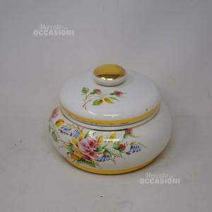 Porta Biscotti In Ceramica Bassano Con Coperchio