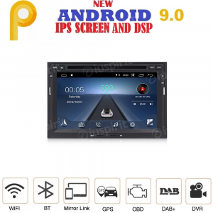 ANDROID 9.0 autoradio 2 DIN navigatore per Peugeot Partner 3008/5008 Citroen Berlingo GPS DVD USB SD WI-FI Bluetooth Mirrorlink