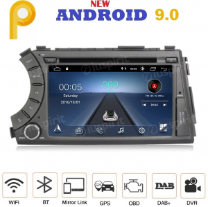 ANDROID 9.0 autoradio 2 DIN navigatore per SsangYong Kyron Actyon 2005-2013 GPS DVD USB SD WI-FI Bluetooth Mirrorlink