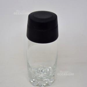 Shaker In Vetro E Tappo Plastica Nero