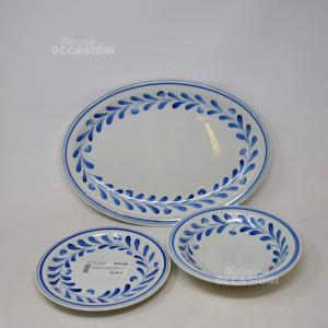 Servizio Di Piatti 8+8+8 Con Portata In Ceramica Richard Ginori