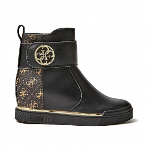 Sneaker alta nera/logata Guess