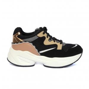 Chunky sneaker nera/nude Liu Jo