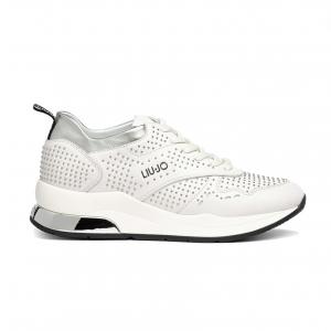 Sneaker bianca con microborchie Liu Jo