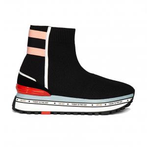 Sneaker a calzino nera con fondo platform Liu Jo