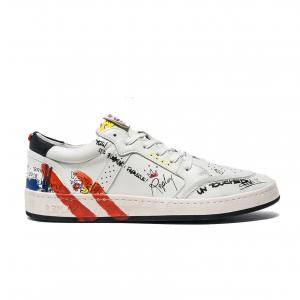Sneaker bianca con motivi grafici Replay