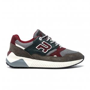 Sneaker grigio/verde/borgogna Replay
