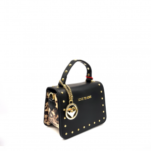 Mini bag nera/animalier Love To Love