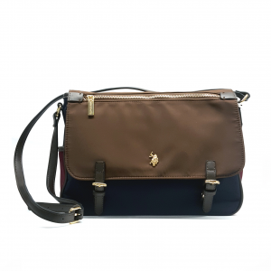 Borsa a tracolla navy/bordò/marrone U.S.Polo Assn.