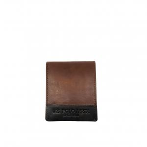 Portafoglio marrone/grigio U.S.Polo Assn.
