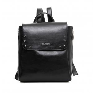 Zaino nero con borchiette Nero Giardini