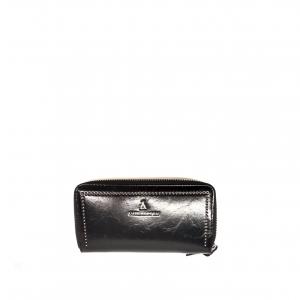 Portafoglio nero lucido con borchiette PashBag