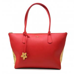 Shopper rossa/geo beige 1a Classe