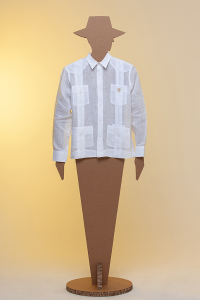 Guayabera Capital 100% linen white