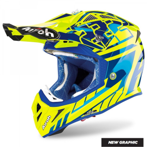 CASCO MOTO CROSS AIROH AVIATOR 2.3 AMS2 REPLICA CAIROLI CHROME 2020 AV23RC31