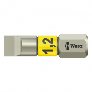 Wera 1/4 Torsion bit for slotted screws stainless 1.2x6.5mm