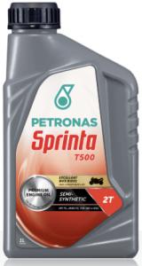 Olio PETRONAS Sprinta T500 per motori 2T, semisintetico, tanica lt 1,