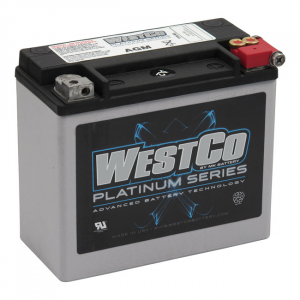 WESTCO, AGM BATTERY, 12V, 18AMP, 310CCA