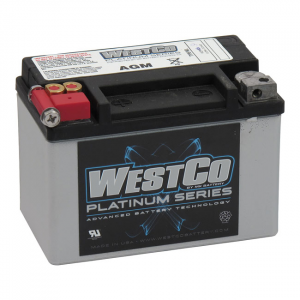 WESTCO, AGM BATTERY, 12V, 8AMP, CCA120