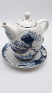 Teiera monoporzione con tazza e piattino in ceramica, vendita online | GIOIELLERIA BRUNI Imperia