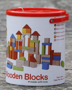 Blocchi di legno per costruzioni 100 pezzi