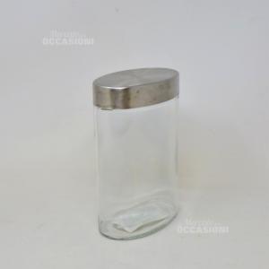 Vaso Vetro Ovale 1200ml Tappo Metallo