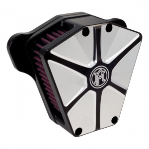 PM AIRCLEANER ARRAY, CONTRAST CUTCV carb: 93-06 all B.T.; Delphi inj.: 01-15 Softail; 04-17 Dyna (excl. 2017 FXDLS); 02-07 Touring (NU)