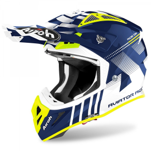 CASCO MOTO CROSS AIROH AVIATOR ACE NEMESI BLUE GLOSS 2020 AVAN18