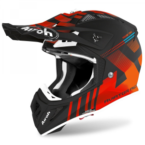 CASCO MOTO CROSS AIROH AVIATOR ACE NEMESI ORANGE MATT 2020 AVAN32