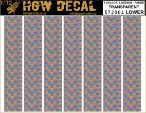 4 Colour Lozenge Lower - Transparent