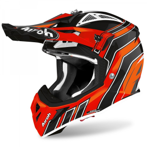 CASCO MOTO CROSS AIROH AVIATOR ACE ART ORANGE GLOSS 2020 AVAAR32