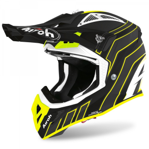 CASCO MOTO CROSS AIROH AVIATOR ACE ART BLACK MATT 2020 AVAAR35