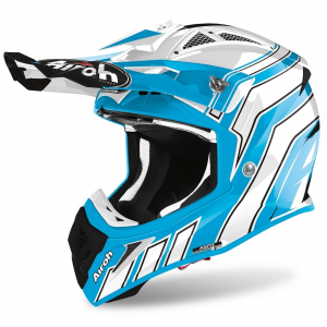 CASCO MOTO CROSS AIROH AVIATOR ACE ART AZURE GLOSS 2020 AVAAR99