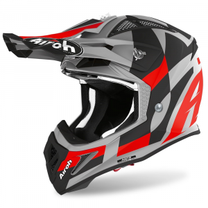 CASCO MOTO CROSS AIROH AVIATOR ACE TRICK RED MATT 2020 AVAT55