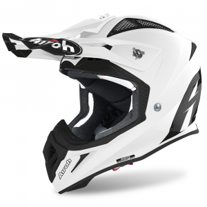CASCO MOTO CROSS AIROH AVIATOR ACE COLOR WHITE GLOSS 2020 AVA14