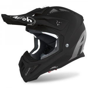 CASCO MOTO CROSS AIROH AVIATOR ACE COLOR BLACK MATT 2020 AVA11