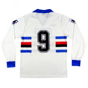 1990-91 Sampdoria Maglia Away #9 Vialli L  (Top)