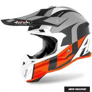 CASCO MOTO CROSS AIROH TERMINATOR SHOOT ORANGE MATT 2020 TOVS32