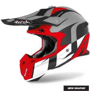CASCO MOTO CROSS AIROH TERMINATOR SHOOT RED MATT 2020 TOVS55