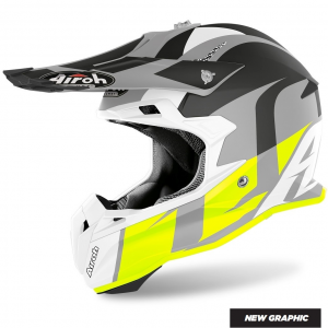 CASCO MOTO CROSS AIROH TERMINATOR SHOOT YELLOW MATT 2020 TOVS31
